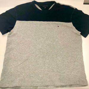 Tommy Hilfiger Mens T-Shirt  - Navy Blue And Gray